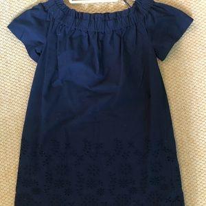 Vineyard Vines Navy off-shoulder Dress